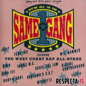The West Coast Rap All-Stars - We're All In The Same Gang (US CD5)