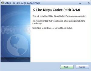 K-Lite Mega Codec Pack 3.4.0