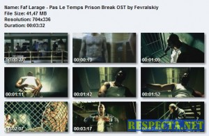 Faf Larage - Pas Le Temps Prison Break OST DVDRip